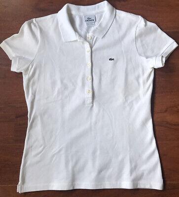 Lacoste White Women's Polo Shirt Top Sz 42