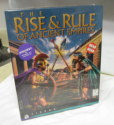 The Rise & Rule of Ancient Empires PC Big Box CD WIN 95 3.1 Sierra vtg NOS (The Rise & Rule Of Ancient Empires)