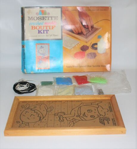 Vintage 1965 Mosette Crushed Marble Mosaic Kit HUMPTY DUMPTY by Craft Master