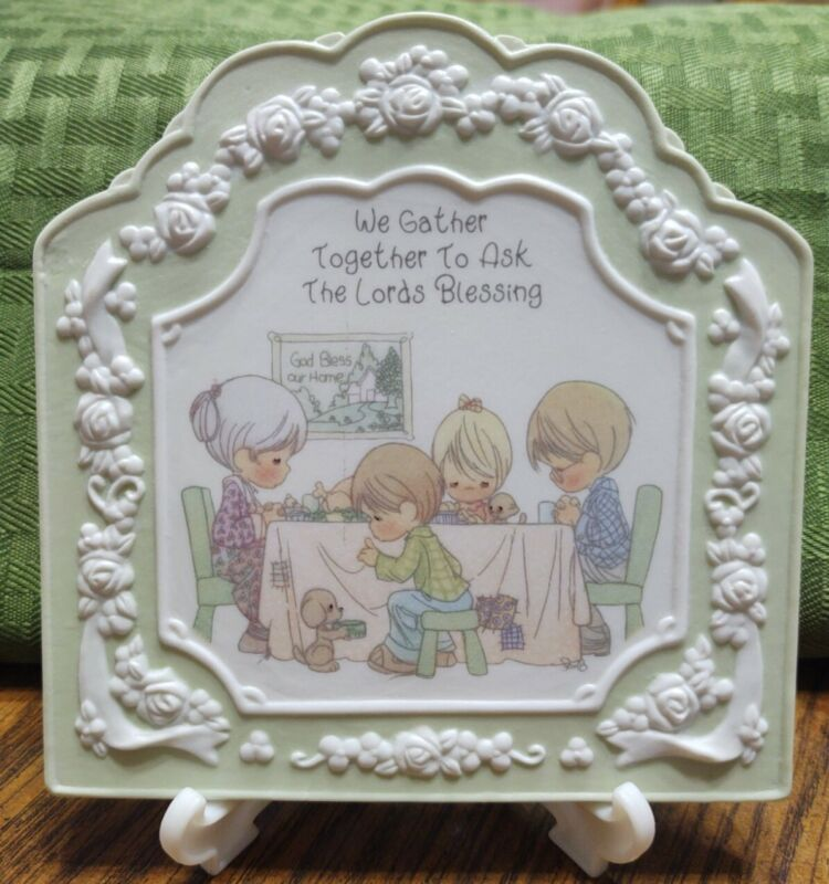 1994 Precious Moments Plaque We Gather Together To Ask The Lord
