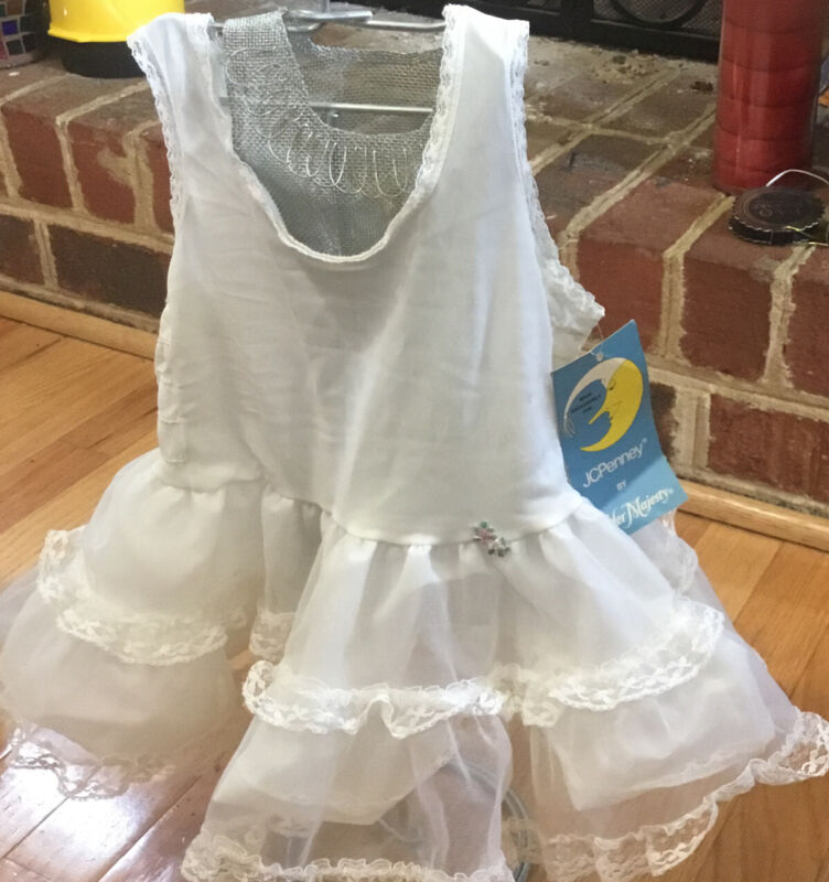 New Vintage Little Girl Dress Size 1T Slip By Her Majesty USA Made Petticoat