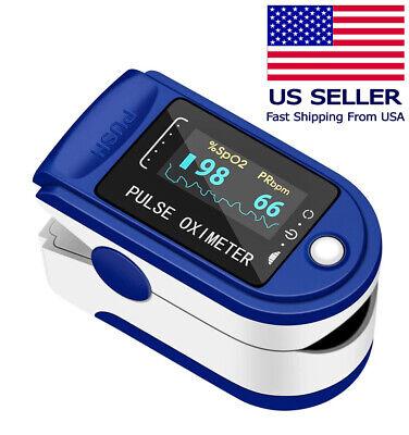 Finger Pulse Oximeter Blood Oxygen Spo2 Monitor Pr Heart Rate Monitor Us Seller
