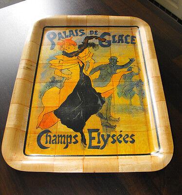Seltenes Nostalgie Tablett Bambus Werbung: Palais de Glacis Toulouse Lautrec