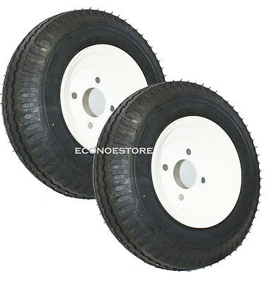 One Pair 4.80/4.00/8 15 Trailer Tire Wheels 8-3/4 Rim (utility / Cargo)
