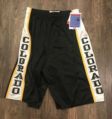 Colorado Buffaloes Large Basketball Program Shorts Black New Old 2004 Dodger USA