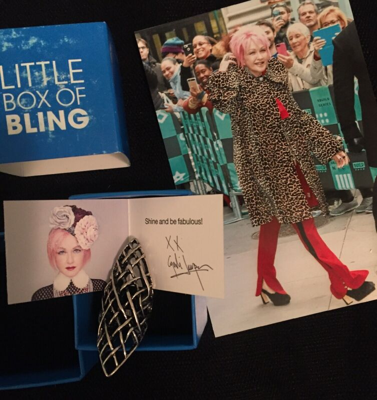 Cyndi Lauper TOUCH OF CYN Silver Lattice Ring SIZE 6 Original Box HSN Exclusive