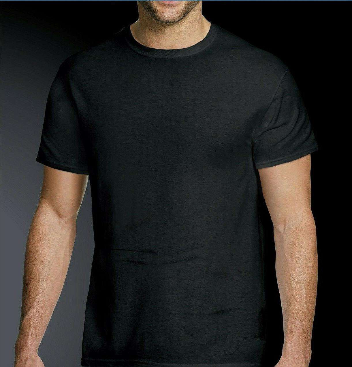 One Hanes Men's Platinum ComfortFit Crew Neck T-Shirts, Blac
