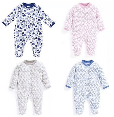 ex Chainstore Jojo Girls & Boys Baby Unisex Elephant Sleepsuit Romper 0-18Months