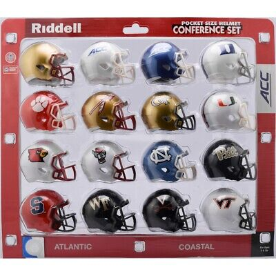 NCAA ACC Pocket Pro Speed Revolution Mini Helmets Set by Riddell ()