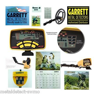 GARRETT New Ace 250 Metal Detector with Waterproof Coil, with Free Shipping!