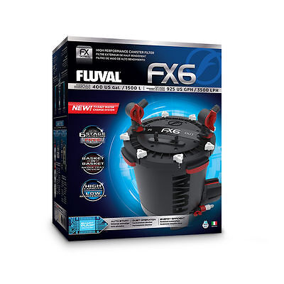 New FLUVAL FX6 AQUARIUM CANISTER FILTER PACKAGE 2017