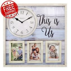 THIS IS US Family Love Picture Wall Clock Photo Frame Personalized