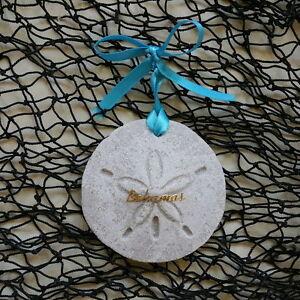 bahamas sand dollar made with sand tropical beach ornament