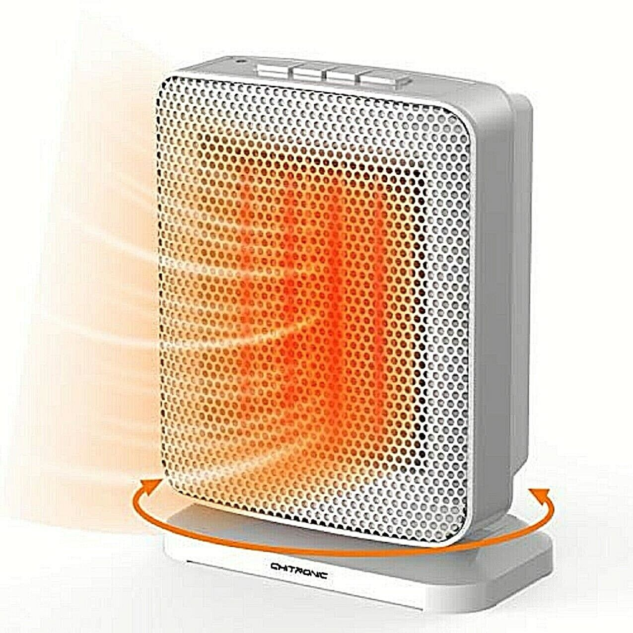 Portable Ceramic Space Heater with Efficient 1500 Watt, ETL Listed Heating & Cooling Appliances
