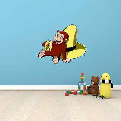Curious George Wall Decor - Curious George Cartoon Kids Room Wall Garage Decor Sticker Decal 25