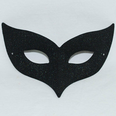 Black Bird Mask Halloween Fancy Dress Costume Masquerade Ball Glitter Raven