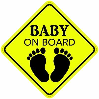 2 Stickers BABY ON BOARD Sign Sticker Decal Car Made In the USA Premium Quality