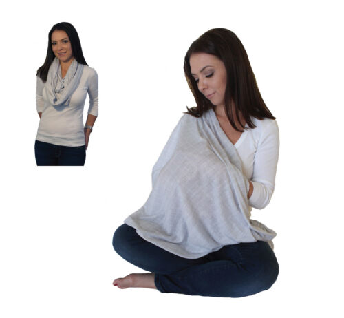 LK Baby Infinity Nursing Scarf Cover Up for Breastfeeding Privacy Heather Grey