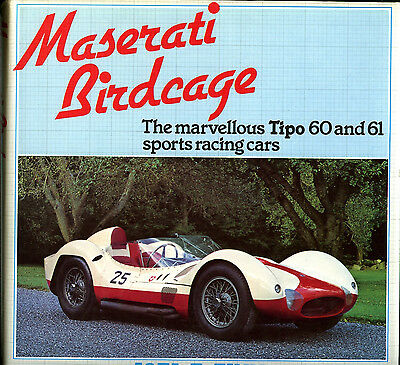MASERATI BIRDCAGE, MARVELLOUS TIPO 60 AND 61 SPORTS RACING CARS, NEW BOOK,  SALE