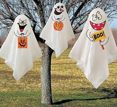 3 Haunted Halloween Hanging Ghost Spooks Party Decoration Balloon Indoor Outdoor