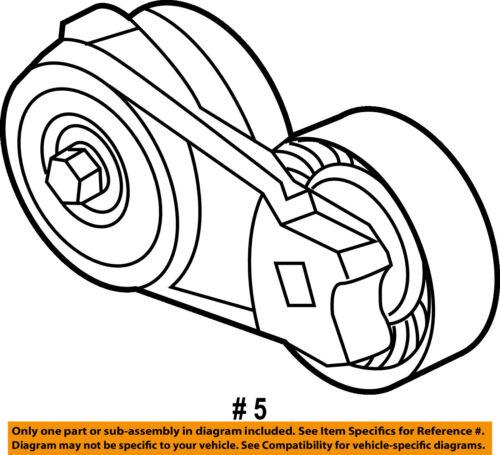 Ford Oem 11 13 F 150 Serpentine Drive Fan Belt Tensioner Bl3z6a228a
