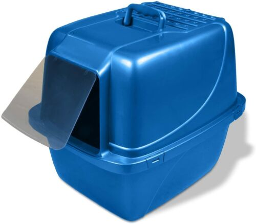 Van Ness Covered Cat Litter Box Extra-Giant , Blue