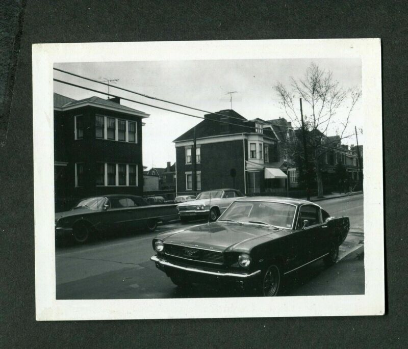 Vintage Polaroid Photo 1966 Mustang Fastback 1960 Ford 1963 Chevy Cars 415016
