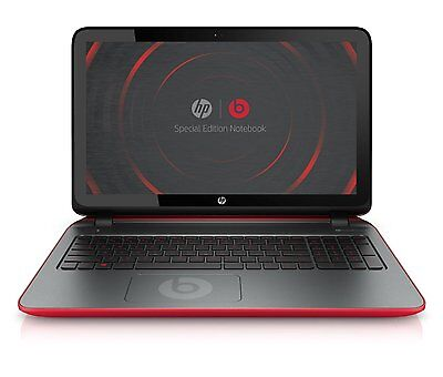 """HP Beats Edition 15-P390NR 15.6"""" Touch Laptop AMD A10-7300 1.9GHz 8GB 1TB W10"""