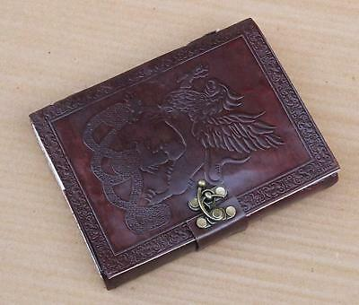 Medieval Single - Medieval Renaissance Single Dragons Leather Handmade Journal Diary