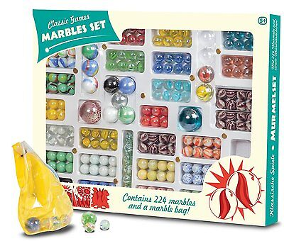 Marble Set 224 Pieces Variety Of Colours Sizes