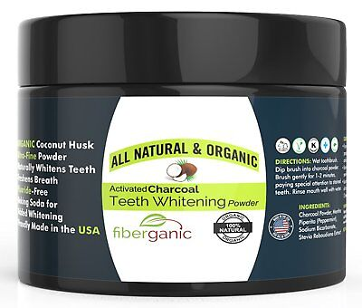 Teeth Whitening Charcoal Powder Natural True White With Active Baking Soda | NEW