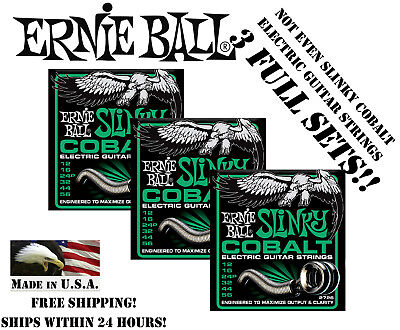 ** 3-PACK ERNIE BALL COBALT NOT EVEN SLINKY ELECTRIC GUITAR
