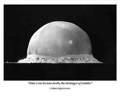 Robert Oppenheimer Famous Quote From Legendary Physicist   8X10 Photo  Pq 010