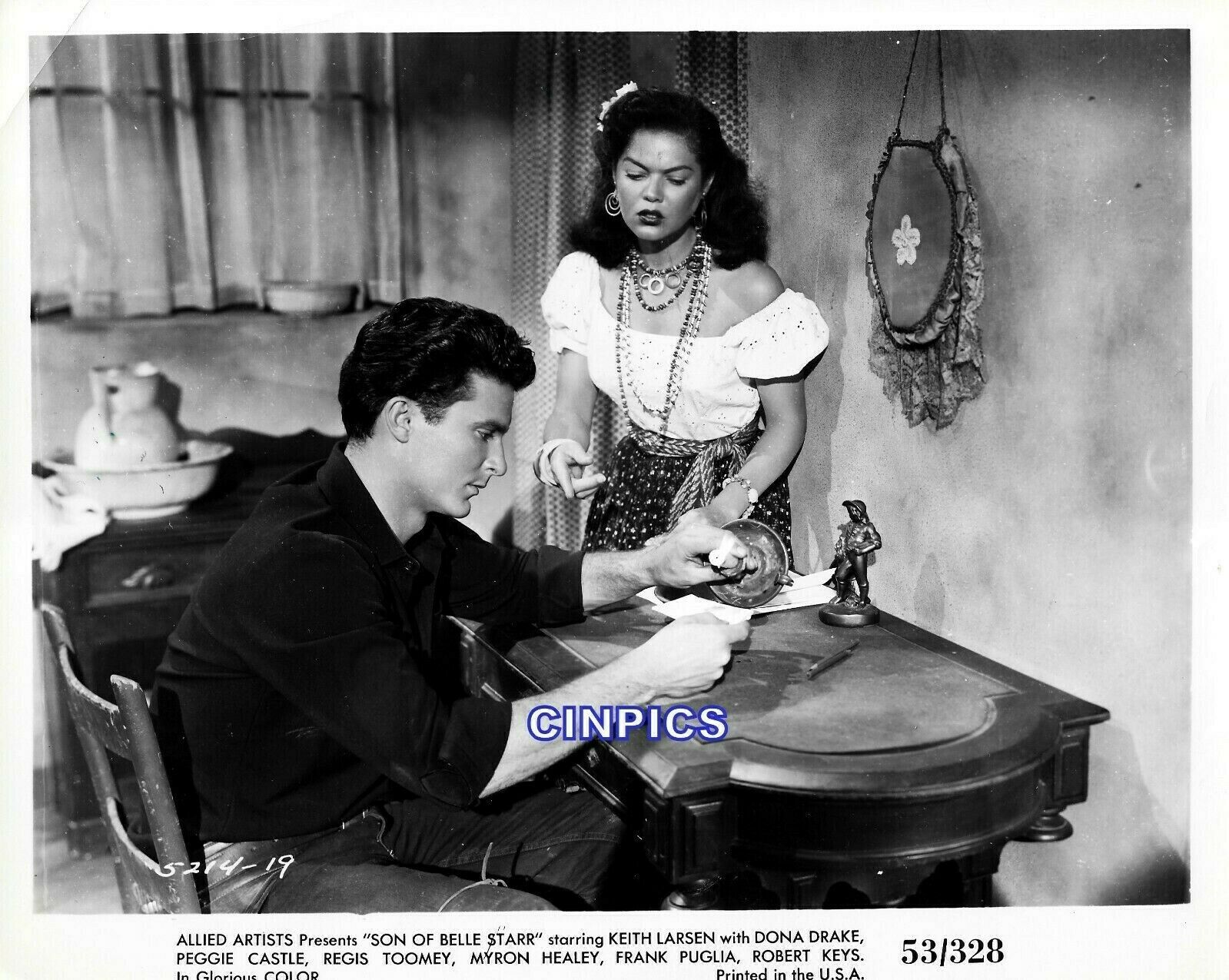 SON OF BELLE STAR KEITH LARSEN,DONA DRAKE-8X10 VINTAGE ORIGINAL PHOTO-WESTERN - $19.95