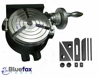 Rotary Table Hv6 150 Mm 6 3 Slot For Milling Machine With Clamp Kit