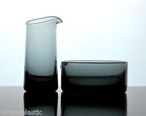 Mid-Century-Hadeland-Norway-Smokey-Glass-Cream-and-Sugar
