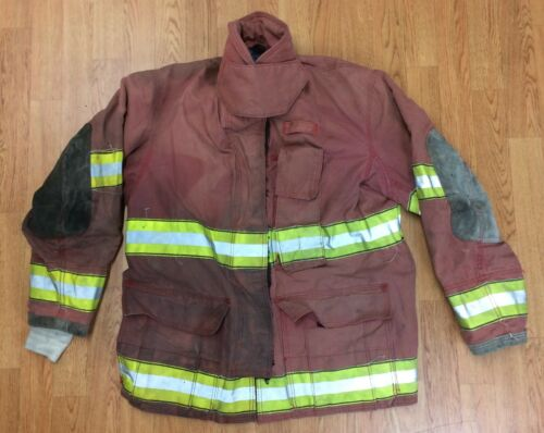 Firefighter Red Bunker Turnout Jacket 42 x 32  Globe