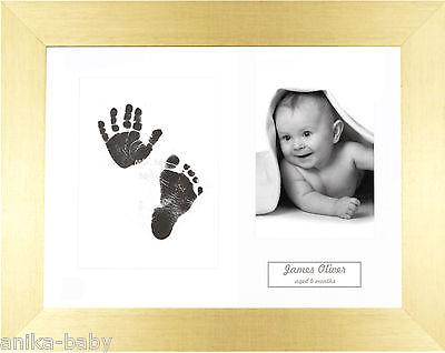 Einzigartig Neu Geburt Baby Andenken Geschenk Hand & Fußabdrücke Set Gebürstet