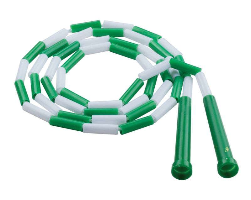 Champion Sports Plastic Segmented Jump Rope - 6 Feet (Green and White)
