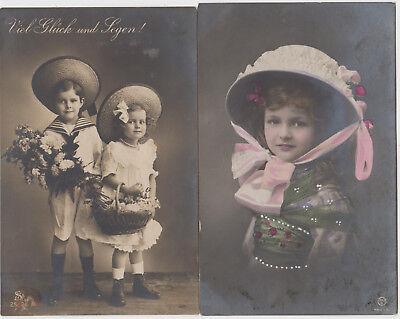 DG 330. Kinder mit Hüten 1911 ! 2 - Kinder Mit Hüten