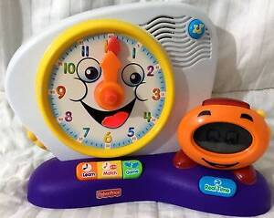 FISHER-PRICE FUN-2-LEARN TEACHING CLOCK LEARNING SYSTEM ABSOLUTEL Epping Ryde Area Preview