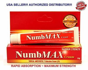 NumbMAX Topical Anesthetic Tattoo Waxing Speed Numbing Cream 10g 100% Genuine