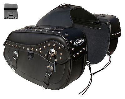 Oxide Titus Tek Leather Saddle Bags 2 x 15L Motorcycle Panniers