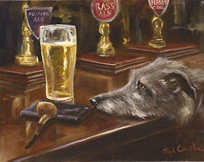 Mick Cawston Poacher's Ale Lurcher beer  Open edition print