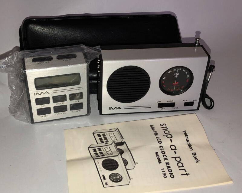 IMA SNAP-A-PART 1190 AM/FM ALARM CLOCK RADIO LCD RADIO-REVEIL PORTABLE