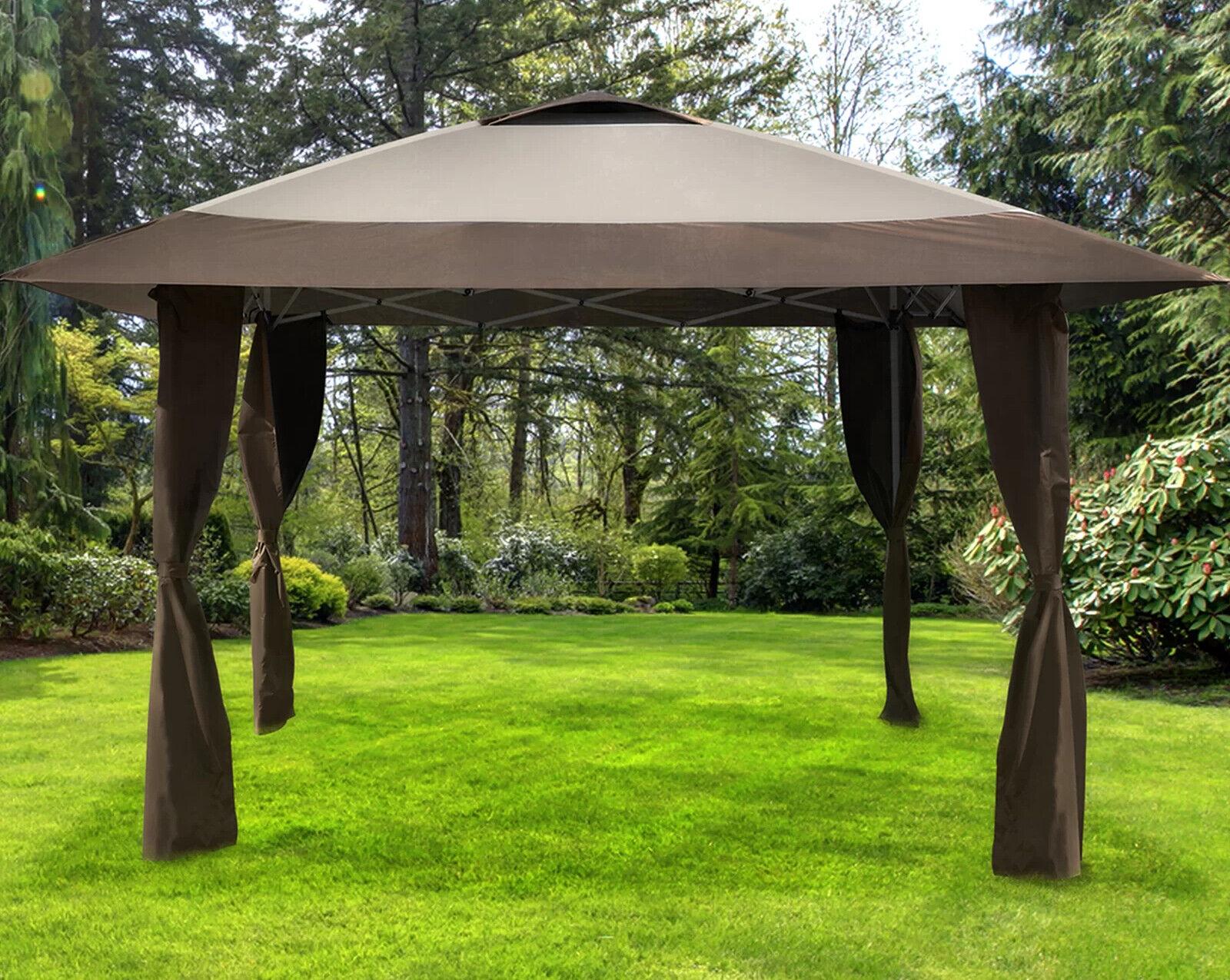 Portable Gazebo Steel Frame 13 x 13 Garden Shade Tent Vented
