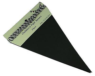 24-Piece Pennant DIY Chalkboard Triangle Banner 5.25