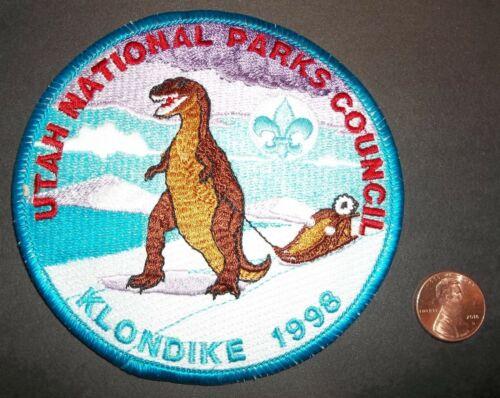 BSA BSC 1998 KLONDIKE UTAH NATIONAL PARKS CANADIAN JAMBOREE DINOSAUR PATCH