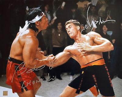 Jean Claude Van Damme & Bolo Yeung Autographed Body Shot 16x20 Photo ASI Proof