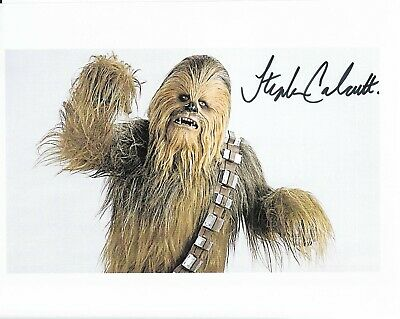 "Stephen Calcutt ""STAR WARS"" Chewbacca standing-in 10"" x 8"" Signed 22092"